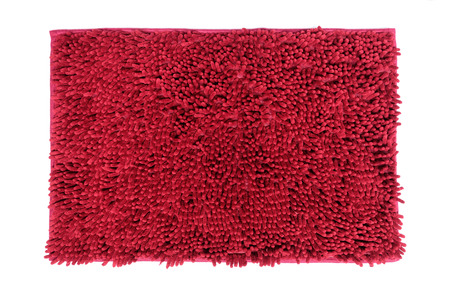 Red doormat isolated on white background  add clipping path inside  photo