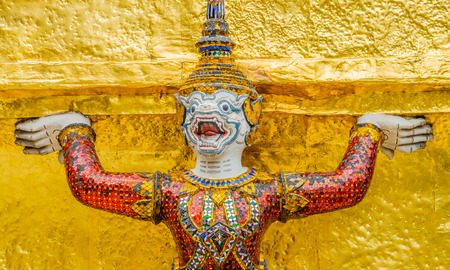 Demon Guardian Wat Phra Kaew Grand Palace Bangkok  photo