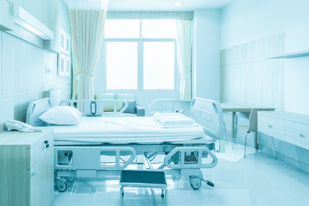 Hospital room with beds and comfortable medical equipped in a modern hospital Stok Fotoğraf