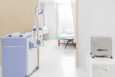 nursing unit: medical equipped with hospital room Stock Photo