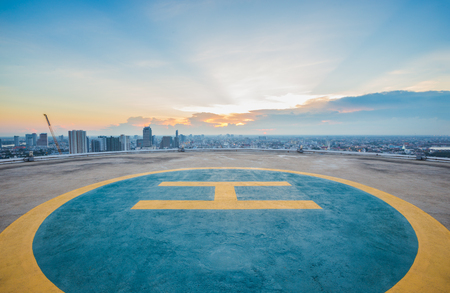 Helipad on top of the building
