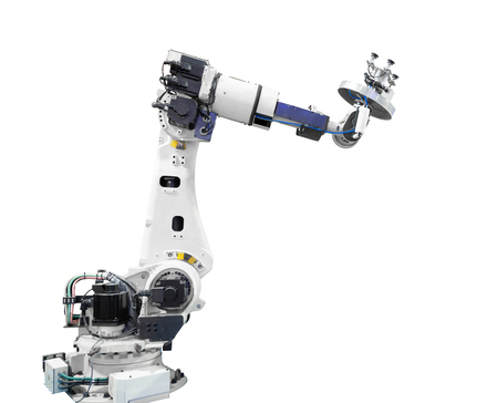 Industry robotic arm isolated included Stok Fotoğraf