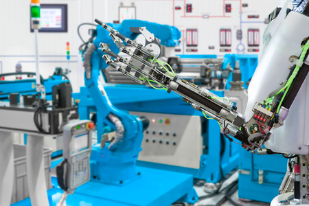 Robotic hand control robot industry, Future technology concept