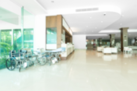 Abstract blur hospital hallway for background