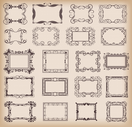Vector set. Frame. Vintage Elements for your design. Calligraphy. Vector
