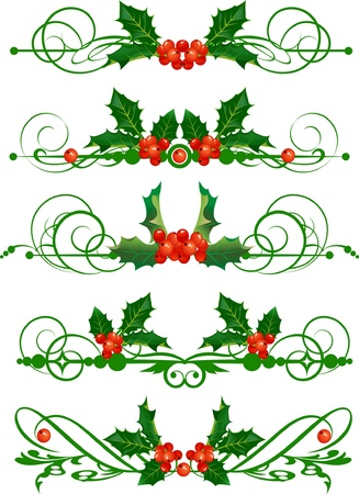 christmas scroll: Holly