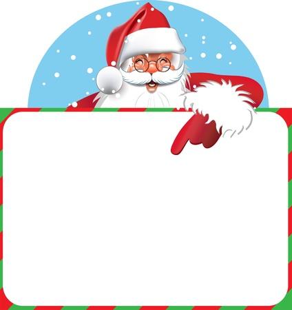 En blanco signo - Santa Foto de archivo - 11124878