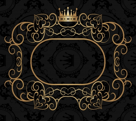 Decorative elements   Frame  Vector image  Vintage