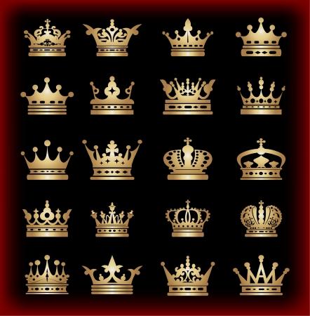 corona de rey: corona, la recogida de vectores, de oro