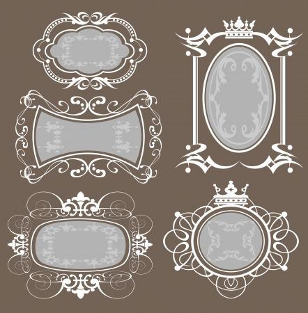 Vector set  Frame  Calligraphic design elements for your design  Retro