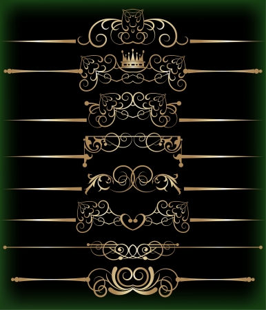 Decorative elements  Vector image  Vintage  Vectores