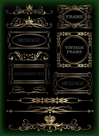 Vector set  Calligraphic design elements for your design  Retro