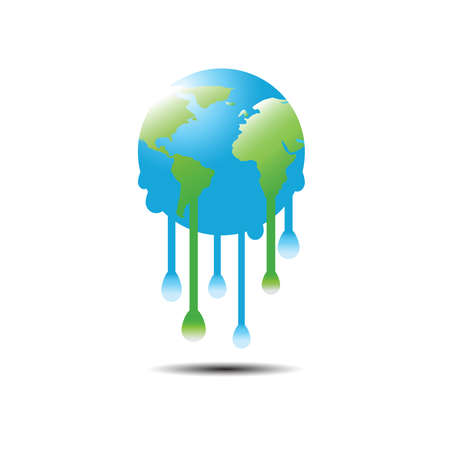 Melted earth from global warming 向量圖像