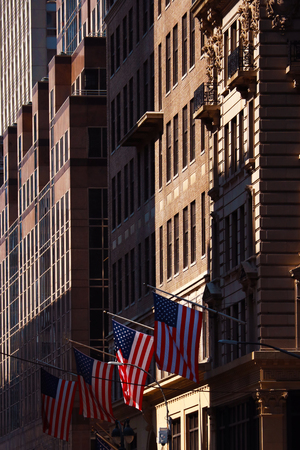 Tall beautiful brown buildings in New York