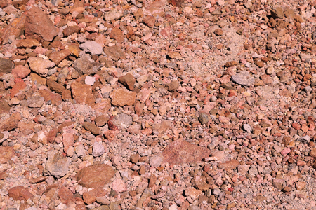view of bright red earth, background, texture