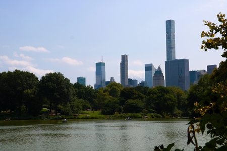 Central Park. Image of The Lake in Central Park, New York City, USA