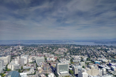 Seattle, USA - September 2, 2018: View of Seattle Washington from Above