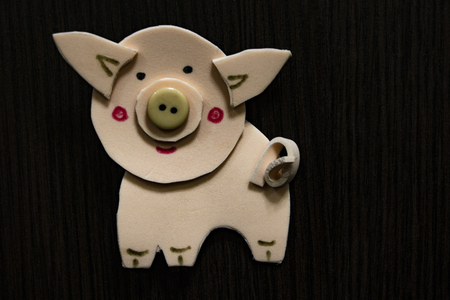 Crafts, figurine: a pig Symbol of 2019 new year