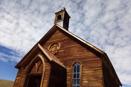Old church in ghost town Bodie, California