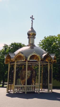 Baranovichi, Belarus - May 9, 2015: Pavilion at the Church of the Holy Myrrh-Bearing Women Editorial