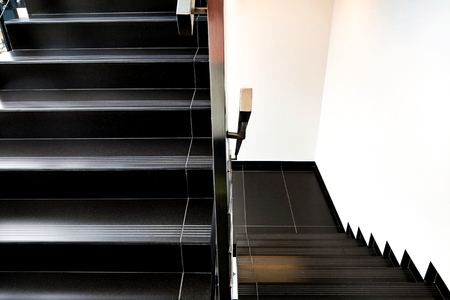 Details of railing and stairs of a modern building Stock fotó