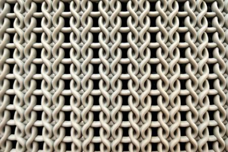 Background texture of interlaced handmade decorative twigs basket Imagens