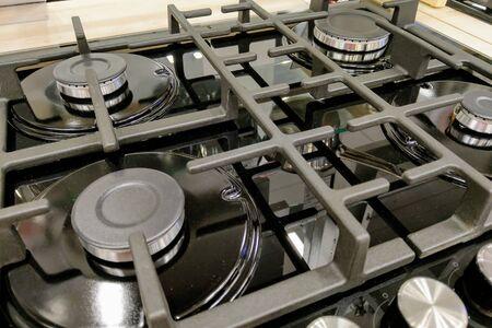 Gas burner burner on the kitchen stove