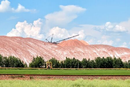 waste heaps - with salt dumps of a place of accumulation of potash production wastes