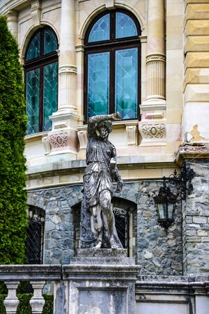 Sinaia, Romania, May 15 2019 Sculpture near Peles Castle