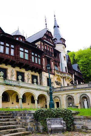 Sinaia, Romania, May 17 2019 Famous Peles castle in Romania