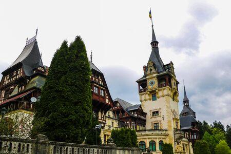 Sinaia, Romania, May 17, 2019 Neo-Renaissance Peles Castle Built In 1873