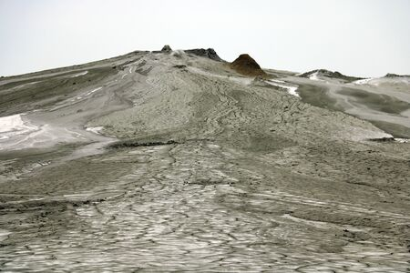 Berca Mud Volcanoes in Romania. A popular place for tourists. Out of focus