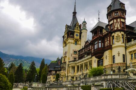 Sinaia, Romania, May 19, 2019 Neo-Renaissance Peles Castle Built In 1873