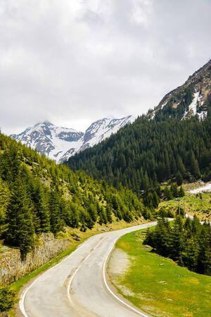 The Transfagarasan mountain road, located in Romania