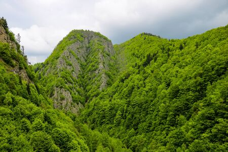Landscape view from Transfagaras Highway, beautiful landscape of Romania