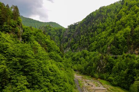 Transfagaras - hiking in the mountains. Nature background 写真素材