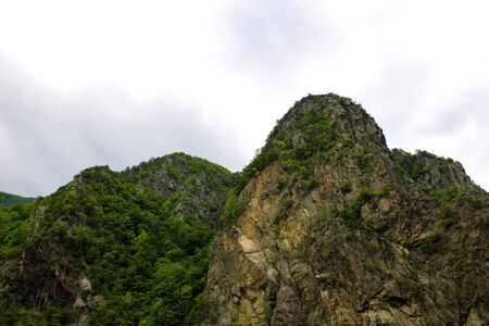 View of the nature on the road Transfagaras in the picturesque mount in Romania 写真素材