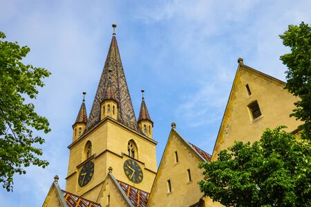 Sibiu, Romania, May 15, 2019 Evangelical Cathedral of Saint Mary in Sibiu