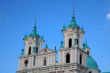 Famous landmark is St. Francis Xavier Cathedral in Grodno. Best destination for summer vacation in East Europe