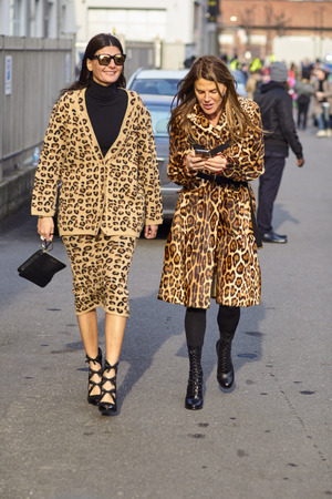MILAN, ITALY - FEBRUARY 21: Anna Dello Russo is seen outside Gucci during Milan Fashion Week Fall/Winter 2018/19 on February 21, 2018 in Milan, Italy. Stock Photo - 105367296