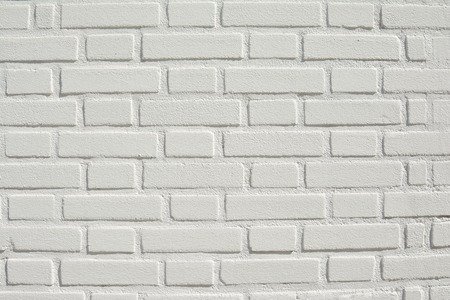 White brick wall background and texture Sun day Stock Photo