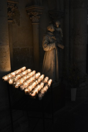 easter candle is burning: A series of candles in the Catholic Church France