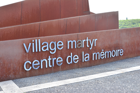 ORADOUR SUR GLANE, FRANCE - AUGUST 16, 2017: Martyr village Memorial center of Oradour-sur-glane, destroyed french village in the second world war Editorial