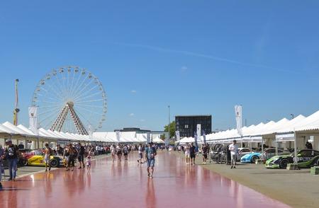LE MANS, FRANCE - JUNE 18, 2017: Exposition of luxury sportcars Porsche 911