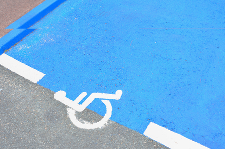 Parking place for people with disabilities Sign Stock Photo