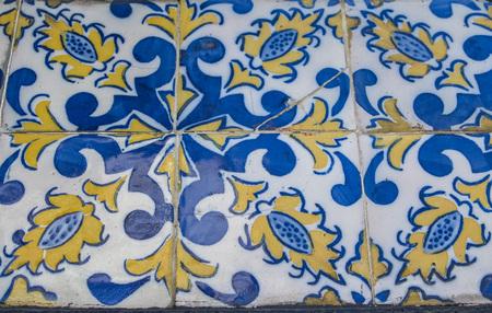 Portuguese azulejo tiles. Color pattern.  seamless pattern