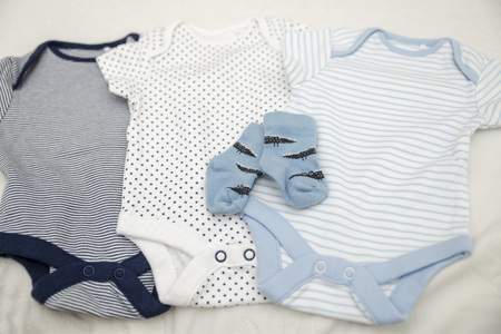 Baby clothes bodysuits and socks for newborn baby