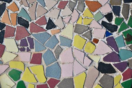 Art ceramic mosaic on the floor, mosaic background. colorful mosaic. texture mosaic. 版權商用圖片