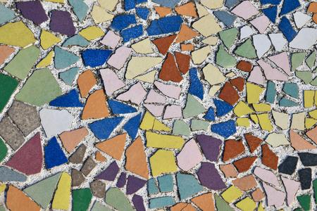 Art ceramic mosaic on the floor, mosaic background