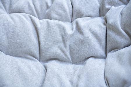 Gray linen rough pillow texture Background